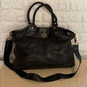 TORY Burch Black Leather Tote and Crossbody
